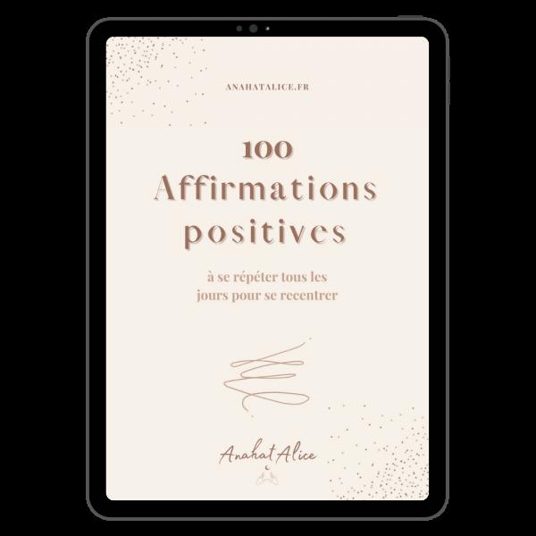 100 affirmations positives freebie visuel ipad